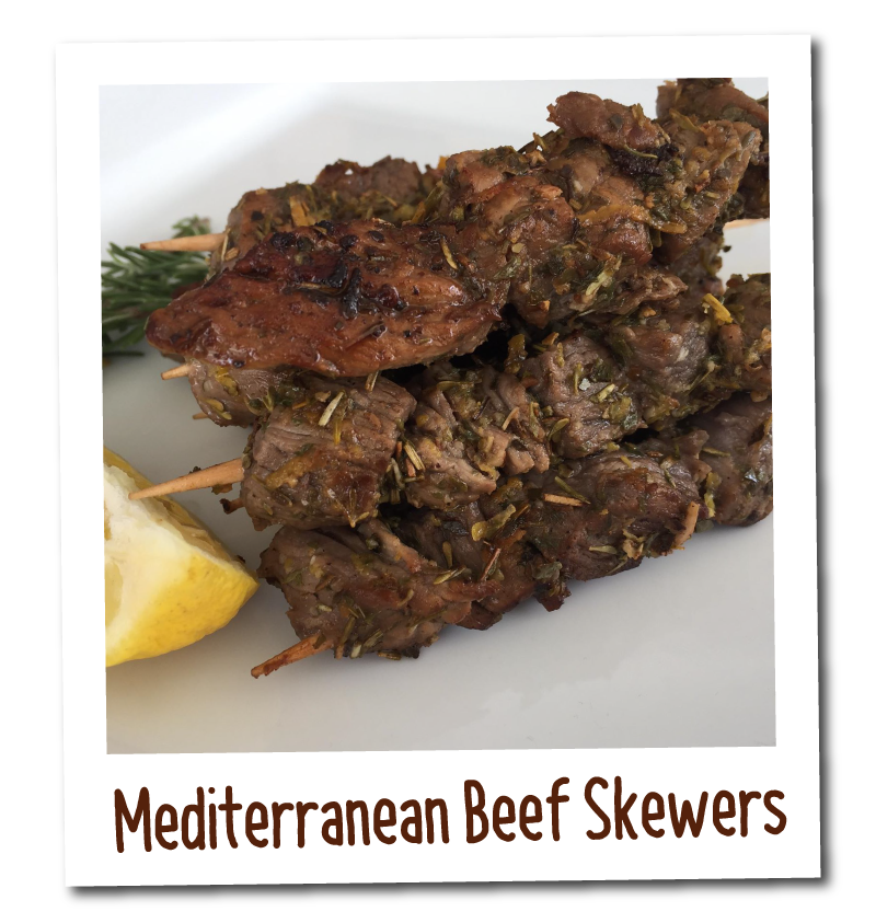 Eat Well Cookbook - Mediterranean Beef Skewers